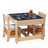 WOLTU 3tlg. Kindersitzgruppe Kindertisch mit 2 Stühle Sitzgruppe mit Stauraum für Kinder Vorschüler Kindermöbel, SG002