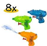 8x Mini Spritzpistole für Kinder im Set | Premium Qualität | hochwertig verarbeitet | Spielspaß im Sommer garantiert | Wasserpistole Wasserspritzpistole | ideal für Kinder als Mitgebsel