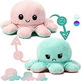 Reversible Octopus Soft Toys, doppelseitiges Flip Octopus Plüschtier,niedliche Mini Octopus StimmungsKuscheltiere Puppe Kreative Spielzeuggeschenke für Kinder / Mädchen / Jungen / Liebhaber
