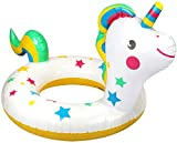 com-four® Schwimmreifen aufblasbar für Kinder bis 6 Jahre - Schwimmring im Einhorn-Design - Schwimmhilfe ideal für Strand und Pool