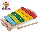 Buntes Xylophon aus Holz mit 6 Tönen (Eichhorn)