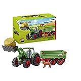 Spielzeug-Traktor für Kinder mit Anhänger (Schleich)