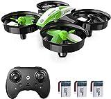 Holy Stone HS210 Mini Drohne für Kinder, RC Quadrocopter Helikopter Ferngesteuert mit 3 Akkus, 21 Min. Lange Flugzeit, Automatische Höhenhaltung,360 Flip,Headless Modus Ideal für Anfänger Mädchen,grün