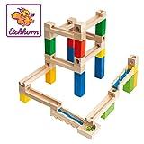 Kugelbahn-Bausatz aus Holz mit Schienen, Säulen, Kugeln & mehr (Eichhorn)