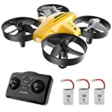 ATOYX Drohne fr Kinder, 3D-Flip, Headless-Modus, Hhe Halten, 3 Batterien, EIN-Tasten-Rckkehr, Kinder und Anfnger (Gelb)