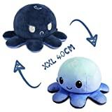 Stimmungs Oktopus Kuscheltier,Octopus Plüschtier xxl Doppelseitig Flip,Oktopus Kuscheltier Geeignet für Kindertagsgeschenke, Geburtstagsgeschenke, Weihnachtsgeschenke