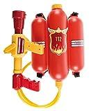 Idena 8040009 - Feuerwehr Wasserspritze, Größe ca. 40 cm, mit verstellbarer Düse, Wassertank und Schultergurt, Wasserschlacht, Sommer, Gartenparty, Wasserspritzpistole, Wasserkanone, Wasserpistole