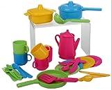 Haberkorn 30 tlg Küchenset für Spielküche Töpfe Kinderservice Besteck