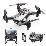 DEERC D20 Drohne mit Kamera HD 720P für Kinder,Faltbar RC Mini Quadcopter mit FPV WiFi Live Übertragung,2 Akku lange Flugzeit,Flugbahnflug,Höhenhaltung,One Key Start/Landen,Headless Modus für Anfänger