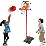 GAYISIC Kinder Einstellbare Basketballständer Basketballkörbe Basketballkorb mit Ständer Höhenverstellbar Basketball Backboard Ständer & Hoop Set Korb Spiel