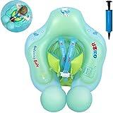 Myir Schwimmring Baby, Aufblasbare Baby Schwimmsitz Schwimmhilfe Swimtrainer Schwimmtrainer Kinder Kleinkind Schwimmreifen Float (Blue, S,3 Monate-1 Jahre)