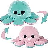 MAFHVV Oktupus Stimmungs Kuscheltier, Octopus Plüschtier, Kuscheltier, Oktopus Plüsch Wenden, Octopus Kuscheltier, Geburtstagsgeschenk für Frauen, Kinderspielzeug, Kleine Geschenke für Kinder