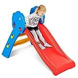 COSTWAY Rutsche Kinder Rutschbahn Kinderrutsche Gartenrutsche Wellenrutsche Kleinkinderrutsche für Indoor und Outdoor 60 x 108 x 71 cm