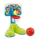 Chicco Basket League Elektronischer Basketballkorb Kinder, Mini Basketballkorb für Innen mit Geräuschen u. Lichteffekten, Höhenverstellbar, Inklusive Ball - Spielzeug für Kinder 18 Monate - 5 Jahre