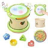 TUMAMA Baby Musical Elektronisches Spielzeug,Baby Musik Trommel Musikinstrumente sensorisches Spielzeug Musikspielzeug Geschenk für Kleinkinder,Jungen,Mädchen,6-12 Monate und up …