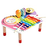 BeebeeRun Baby Musikinstrumente Set, Xylophon Kinder Holz, Geburtstagsgeschenk-Set fr Jungen Mdchen (10 Stck)
