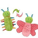 SIGIKID 42260 Wende-Raupe Baby Activity PlayQ Mädchen und Jungen Babyspielzeug empfohlen ab 3 Monaten mehrfarbig