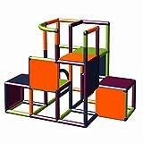 Moveandstic 875056 - Grundbaukasten Profi grün apfelgrün Titan grau rot (titangrau apfelgrün orange Magenta)