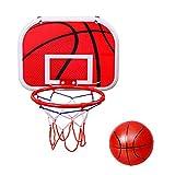 Mini Basketballkorb Kinder,Tür/Wand Basketballständer Sport Spielzeug,Wandmontage Tragbar Basketball Backboard Set Für Outdoor Indoor,Geeignet Für Kinder Von 3 Bis 12 Jahren,25 * 34 * 22cm