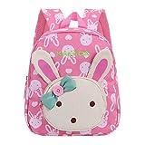 X-Labor 3D Bunny Babyrucksack ab 1 Jahr Minirucksack Kindergartenrucksack Backpack Schultasche Kleinkinder Mädchen Rosa