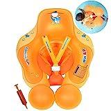HONGCI Baby Schwimmring Baby Float Schwimmreifen mit Pumpe, Baby Schwimmen Ring Baby Schwimmhilfe Kinder Schwimmring Aufblasbarer Einstellbare Life Boje Schwimmtrainer fr Baby (3 - 12 Monaten,S)