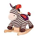B. toys by Battat – Schaukelpferd Rodeo Rocker Zebra – BPA-freies Zebra Plüsch und Holz zum Aufsitzen für Kinder und Babys ab 18 Monaten