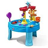STEP2 Archway Wasserspieltisch   Großer Wassertisch mit 13-teiligem Zubehörset   Garten Wasser Spieltisch für Kinder in Blau