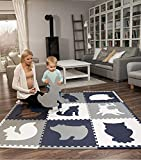 Hakuna Matte große Puzzlematte für Babys 1,8x1,8m – 9 XXL Platten 60 x 60cm mit Tieren – 20% dickere Spielmatte in Einer umweltfreundlichen Verpackung – schadstofffreie, geruchlose Krabbelmatte