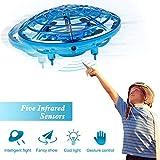 infinitoo UFO Drohne, UFO Flying Ball, Kinder Mini Drohne| Kinderspielzeug RC Quadcopter Infrarot-Induktions-Flying Ball mit 360°Rotierenden und LED-Leuchten, Geschenke für Jungen Mädchen