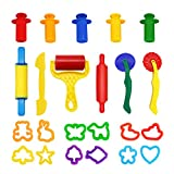 Knetwerkzeug und Ausstechformen - Küchenspielzeug ab 2 Jahren (Wonderforu)