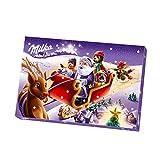 Milka Adventskalender 1 x 200g, Mit Schokoladenfiguren mit Milchcrèmefüllung, Zwei zufällige Designs