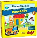 HABA 305211 - Meine ersten Spiele  Baustelle, kooperatives Memospiel mit Kullerb-Fahrzeug und Vorlesegeschichte, Spiel ab 2 Jahren