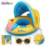 Jojoin Baby Schwimmring - Aufblasbare Baby Schwimmen Float Ring mit Langlebigen Sen Katzensonnenbrillen und Abnehmbarem Sonnendach fr Kleinkinder