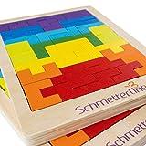 SCHMETTERLINE® Tetralino - Holz-Puzzle für Kinder ab 5 Jahre - Montessori-Spielzeug - Hochwertiges Tangram-Spiel für bessere Feinmotorik und als Gehirntraining - 2er-Set