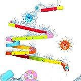 EPCHOO Baby Badespielzeug, Badewannenspielzeug Autorennbahn Wasserspielzeug mit Wasserrad und Bälle Leistungsstarke Saugnäpfe Rennbahn Geschenk für Kinder Junge Mädchen ab 3 4 5 Jahren
