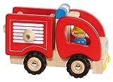 Holz-Feuerwehrauto für Kinder mit Feuerwehrmann (Goki)