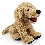 LotFancy Hund Kuscheltier Plüschtier 30cm Golden Retriever, Groß Weich Plüsch-Hund, Kuschelig Geschenk für Kinder Mädchen Freundin