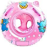 a ray of sunshine Schwimmring Baby Schwimmsitz Baby Schwimmhilfe mit Schwimmsitz PVC für Kleinkind Schwimmhilfe Spielzeug 6 Monate bis 36 Monate (Rosa)