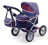 Bayer Design 13052AA 13052AA-Puppenwagen Trendy, höhenverstellbar, zusammenklappbar, Motiv: Fee, dunkelblau