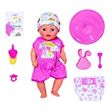 Zapf Creation 827321 BABY born Soft Touch Little Girl Puppe mit Funktionen und Zubehör, 36 cm