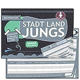Stadt Land Fluss Jungs Geschenk-Idee für Jungen ab 9 10 12 Jahren Geschenke Junior Spiel-block Geburtstagsgeschenk Edition Wichtelgeschenk Kinder