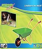 The Toy Company 9565 Outdoor active Schubkarre Metall grün und gelb