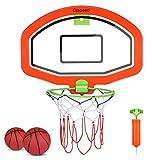 CLISPEED Mini Baskeballkörbe Indoor Outdoor Basketballkorb Basketballspielset für Kinder, 2 Bälle Und Pumpe Inklusive