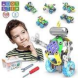 CENOVE STEM 5 IN 1 Bildungsbausteine Spielzeug fr Junge, 109 Stck Konstruktionsspielzeug mit Elektromotor Geschenk fr Jungen ab 5 6 7 8 9 10 Jahre