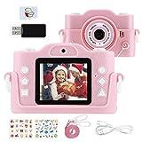 """KinderKamera, Fotoapparat Kinder für 3-14 Jahre alt mädchen und Jungen, 2.0""""Display MP3-Player Kinder Digitalkamera für Geburtstag, Silikonhülle und 32GB Card"""