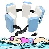 INHEMI Verstellbarer Schwimmgürtel,Schwimmlernhilfe mit Fünf Auftriebskörpern Schaum und verstellbarem Nylongurt,für Kinder Erwachsene