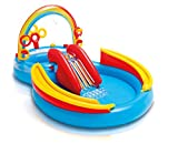 Intex Rainbow Ring Play Center - Kinder Aufstellpool - Planschbecken - 297 x 193 x 135 cm - Fr 3+ Jahre
