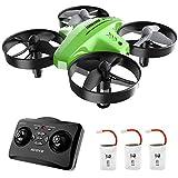 ATOYX Drohne für Kinder, 3D-Flip, Headless-Modus, Höhe Halten, 3 Batterien, EIN-Tasten-Rückkehr, Kinder und Anfänger (Grün)
