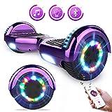 Hoverboards Self Balance Scooter 6,5'Elektroroller LED-Leuchten und Bluetooth-Lautsprecher Kinder