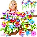 Buyger Blumengarten Spielzeug für Mädchen Gartenspielzeug DIY Blume Bausteine Rollenspiel Geschenk für Kinder ab 3 4 5 6 Jahren